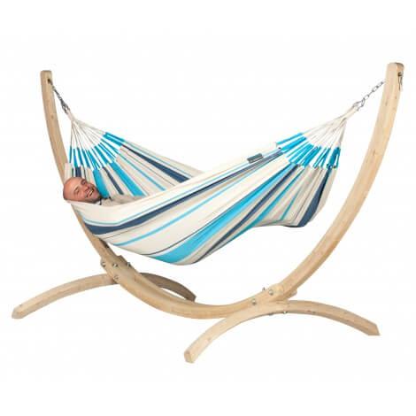 hamac avec support balanoire en bois fauteuil lit. Black Bedroom Furniture Sets. Home Design Ideas