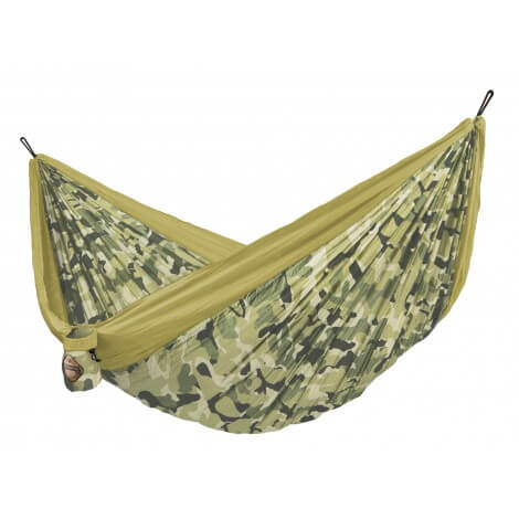 Double travel hammock COLIBRI CAMO forest