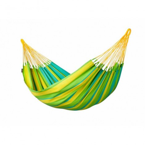 Colombian weatherproof Single Hammock SONRISA lime