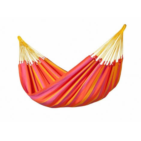 Colombian weatherproof Single Hammock SONRISA mandarine