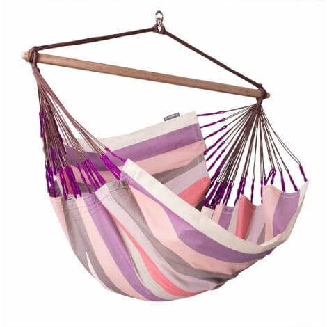 Colombian weatherproof Hammock Chair Lounger DOMINGO plum