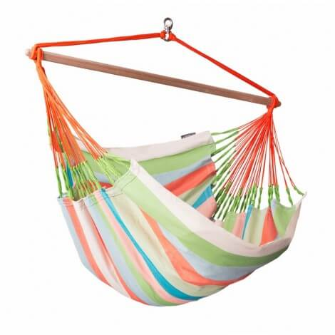 Colombian weatherproof Hammock Chair Lounger DOMINGO coral