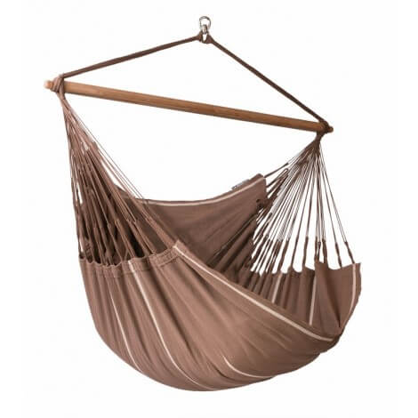 Colombian organic Hammock Chair Lounger HABANA chocolate