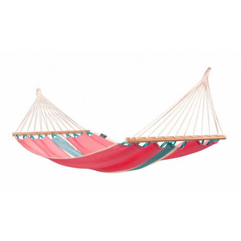 Colombian Single Hammock with spreader bars FRUTA lychee
