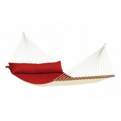 North American Style Kingsize Hammock with spreader bars ALABAMA red pepper