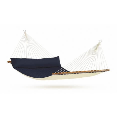 North American Style Kingsize Hammock with spreader bars ALABAMA navy blue