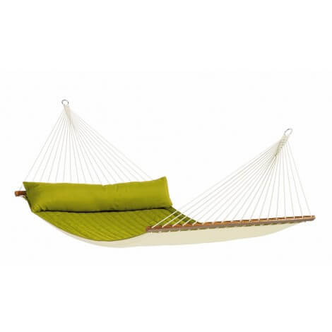 North American Style Kingsize Hammock with spreader bars ALABAMA avocado