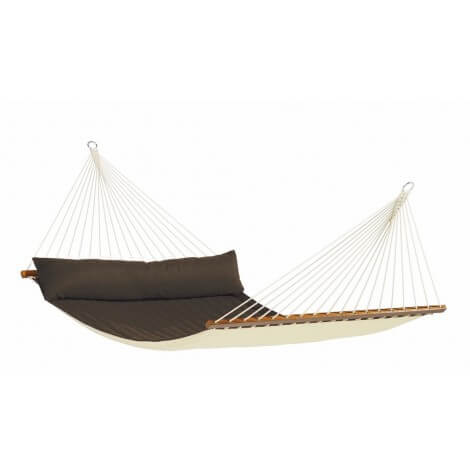 North American Style Kingsize Hammock with spreader bars ALABAMA arabica
